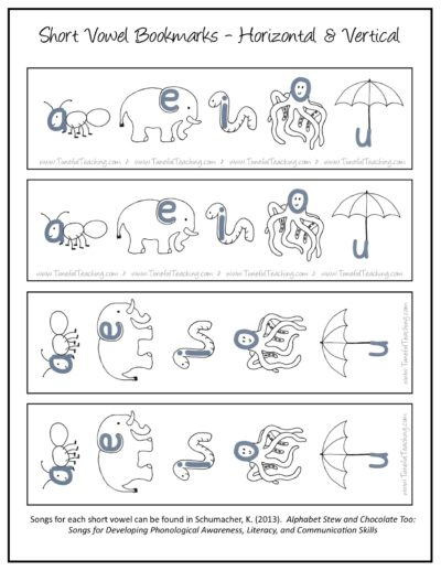 short vowel visual