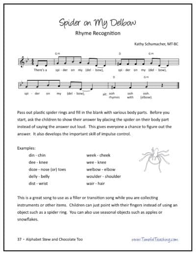 literacy through music rhyming song