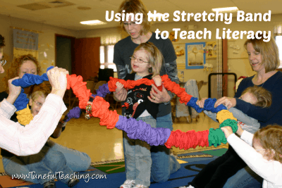 stretchy band to teach literacy