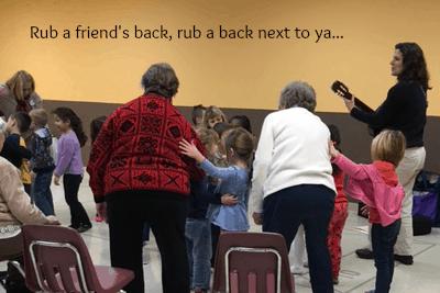 rub a friends back