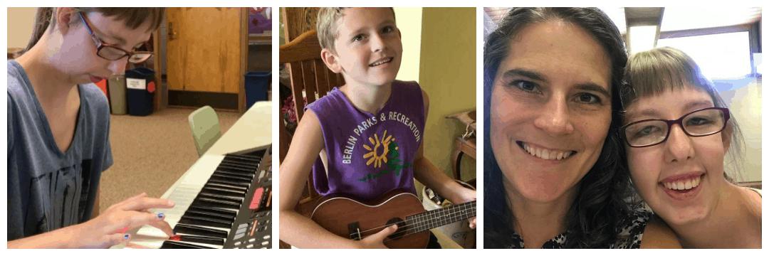 summer music classes in Oshkosh, Wisconsin music therapy therapist